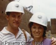 Tom & Robin inside the Panama Canal