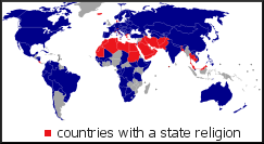 countries with a state religion